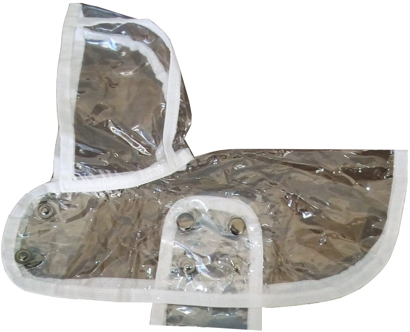 Одежда для собак Монморанси Дождевик прозрачный, белый