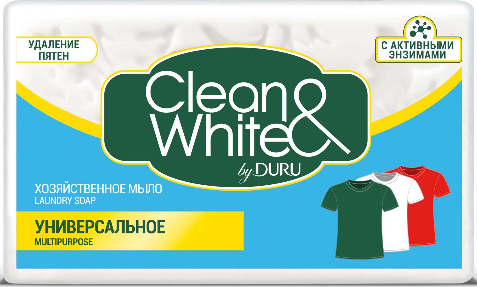 цена на Duru Clean&White Хозяйственное Мыло Унив. 125г