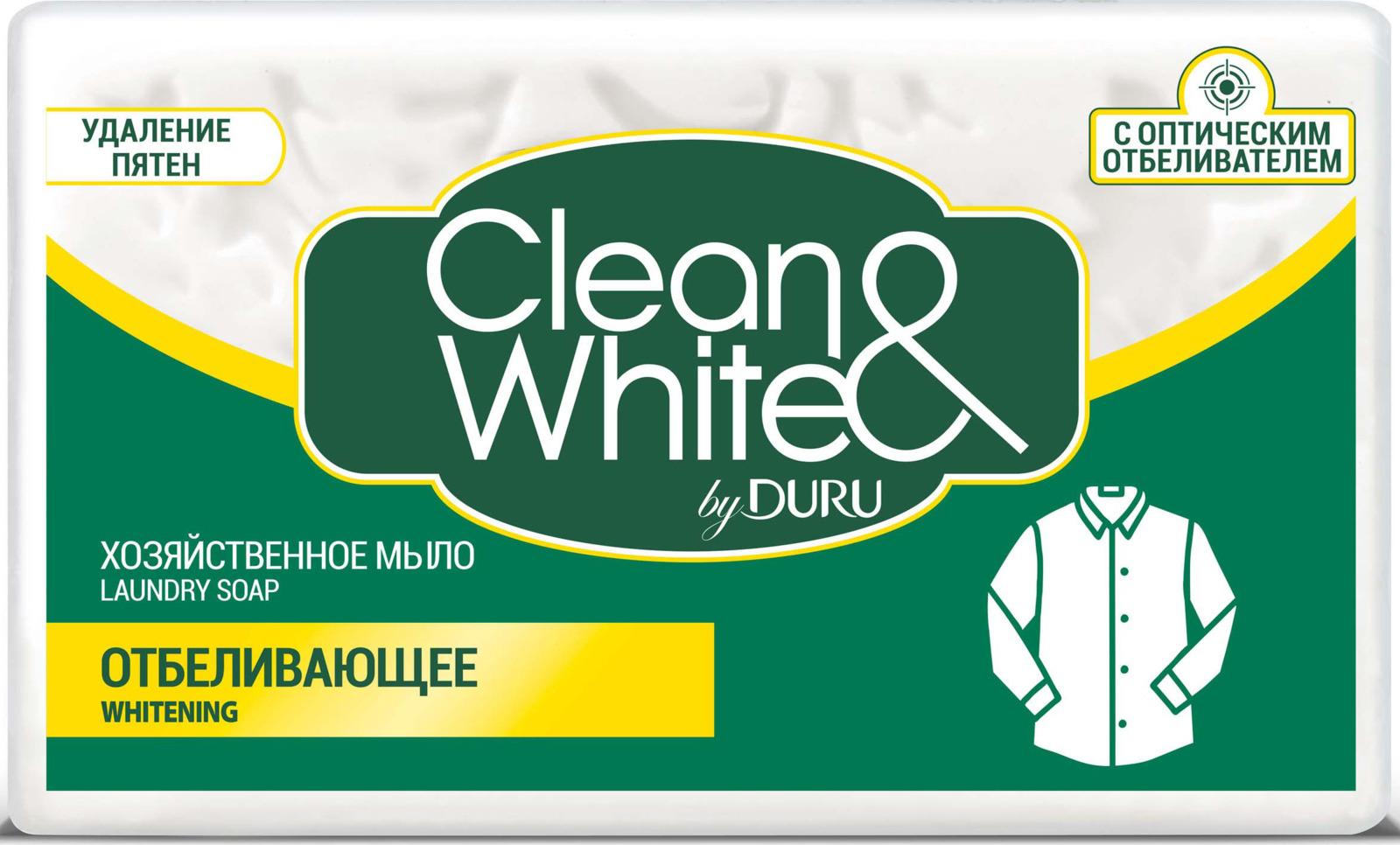 цена на Duru Clean&White Хозяйственное Мыло Отб. 125г
