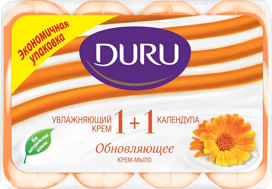 цена на Duru Soft Sens Мыло Календула э/пак 4*90г