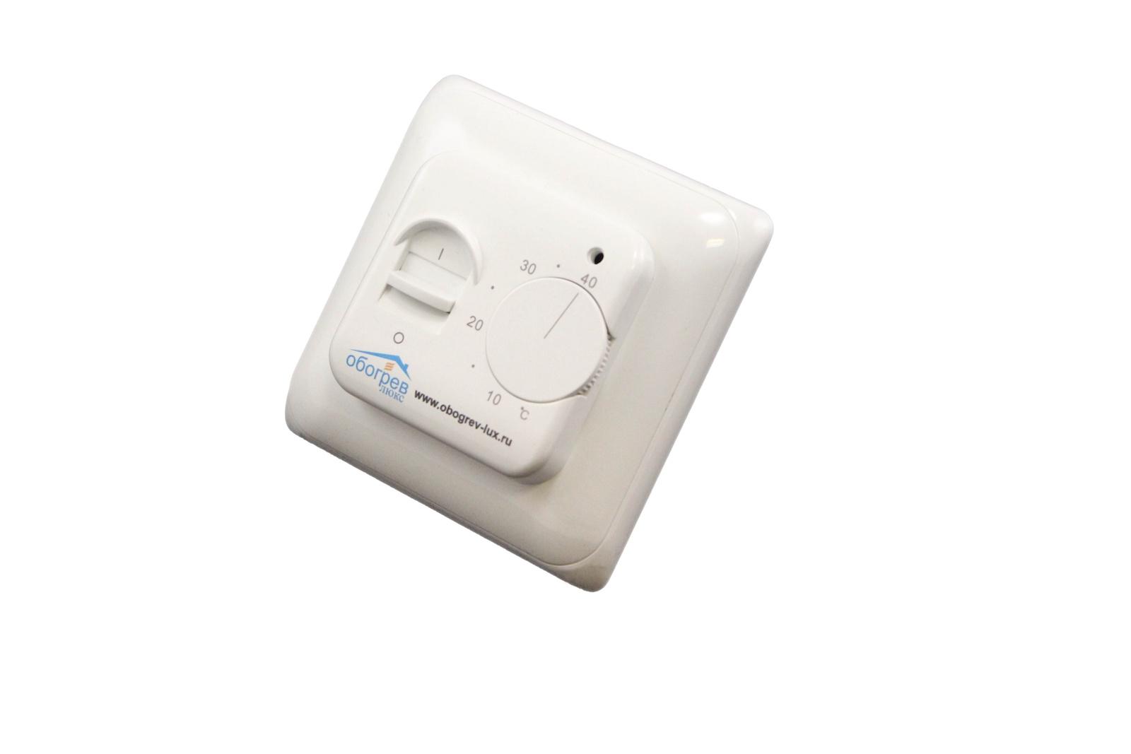 Терморегулятор теплого пола Обогрев Люкс 7930051880975, белый лекарство валз 80 инструкция