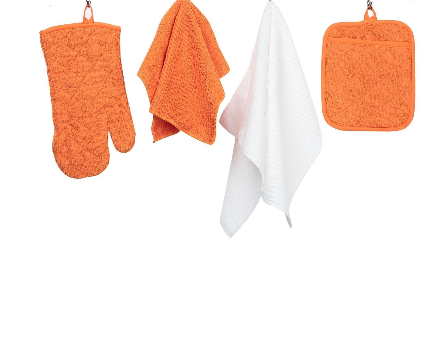 Комплект для кухни ТекСтиль для дома СН-002/О, оранжевый