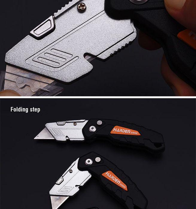 Фото - Нож строительно-ремонтный Harden Бенд, с выдвижным лезвием, 570332, 18 мм нож harden 570331