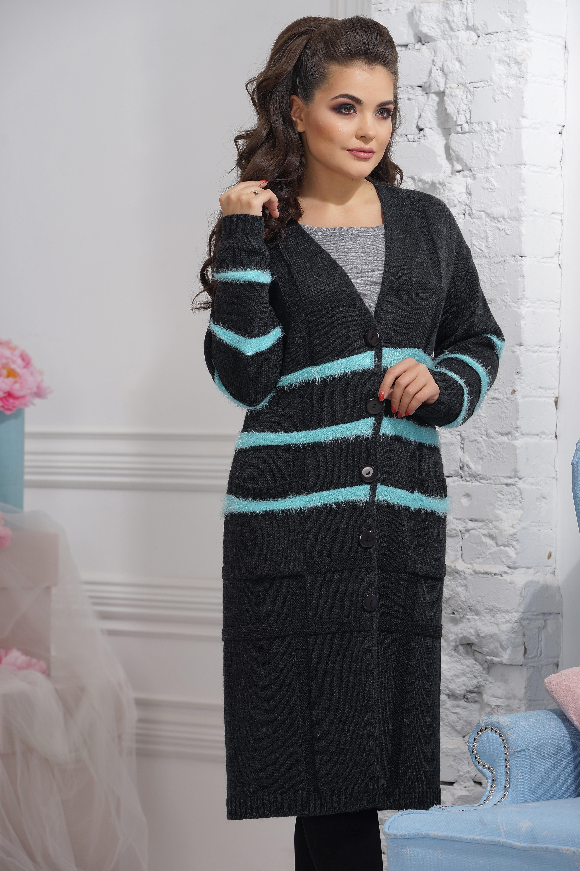 Жакет Vay туника с v образным вырезом пайетками и длинными рукавами