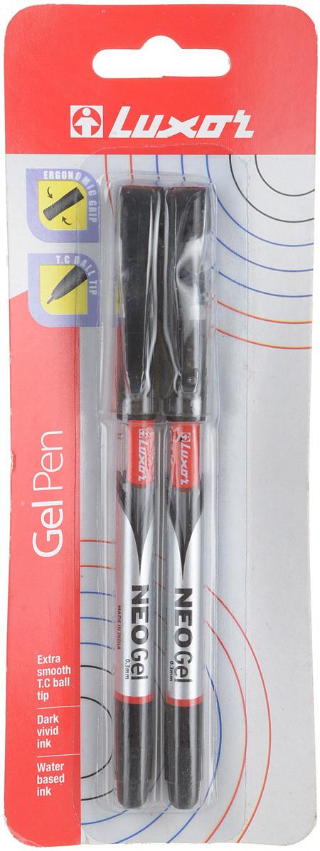 Luxor Набор гелевых ручек Rio Gel Pen цвет чернил черный 2 шт набор гелевых ручек xiaomi alpha letter gel pen 4шт red