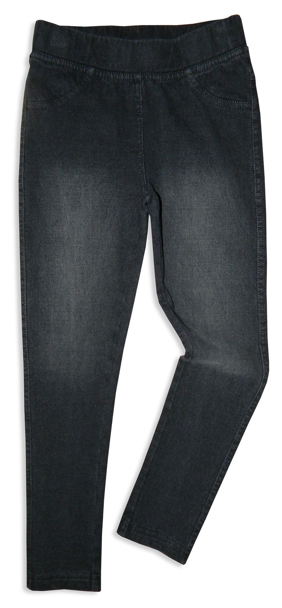 Джинсы Me&We брюки для девочки playtoday цвет темно синий розовый белый 182061 размер 104