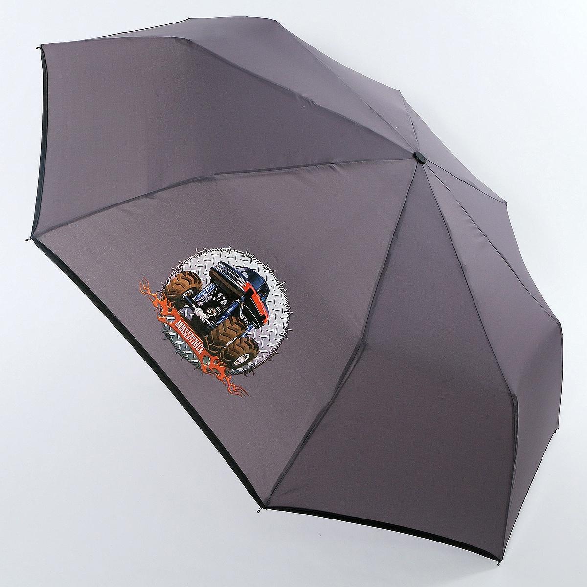 Зонт ArtRain арт.3517-1730, серый зонт artrain механический 3 сложения цвет синий 3517 1732