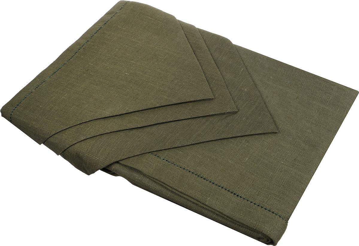 Набор столового белья Гаврилов-Ямский Лен, 10со6861-3, зеленый capri одежда из льна