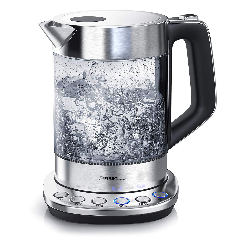Электрический чайник First FA-5405-5 Black чайник first fa 5427 8 bu 2200 вт белый синий 1 7 л пластик
