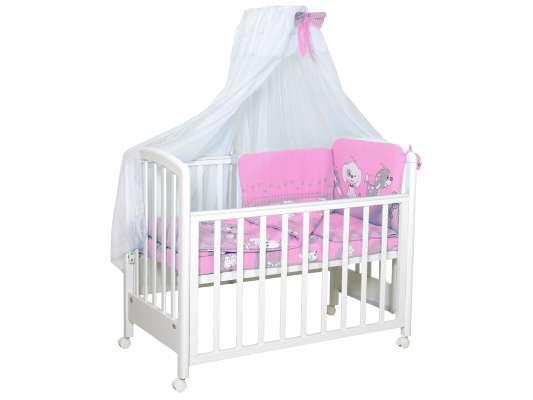 Комплект в кроватку Фея 0001015-2, розовый комплект в кроватку фея 0001015 1 голубой