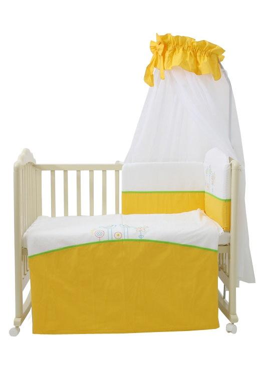 цена Комплект в кроватку Fairy 0001017.3, желтый онлайн в 2017 году