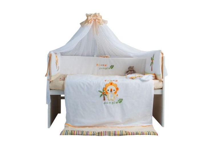 Комплект в кроватку Polini 0001245, желтый комплект в кроватку polini 0001201 1 голубой