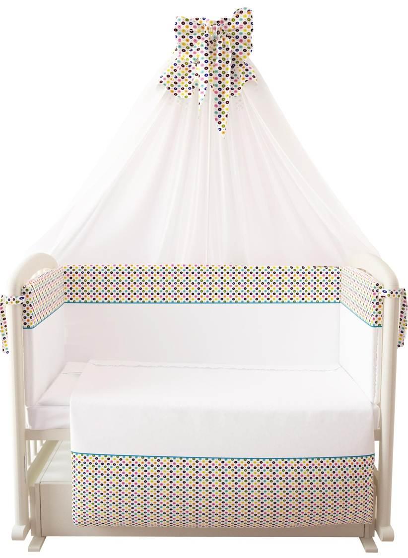 Комплект в кроватку Polini 0001264, белый комплект в кроватку polini 0001201 1 голубой