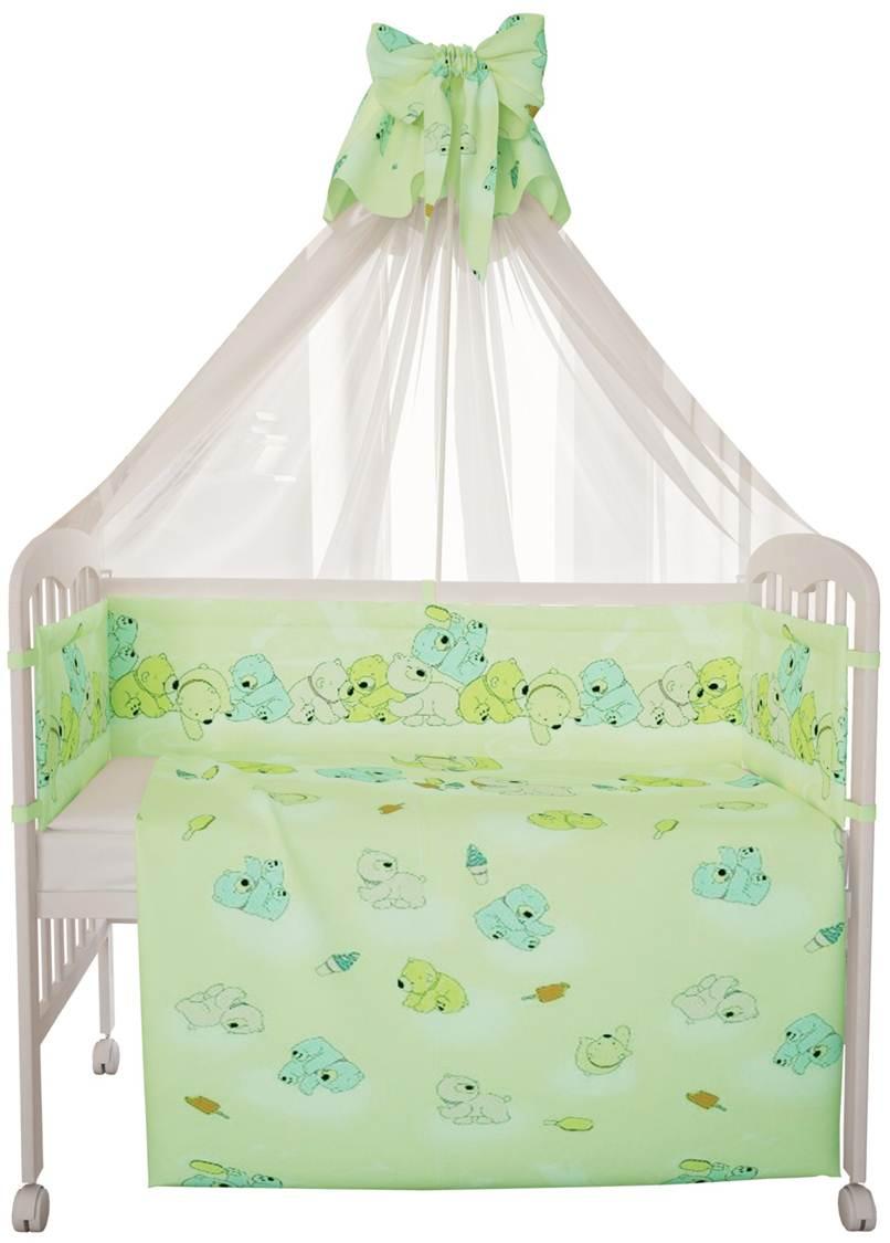 Комплект в кроватку Фея 0001068-4, зеленый