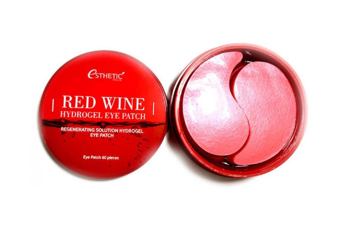 Патчи Esthetic House Red Wine Hydrogel Eye Patch, 100