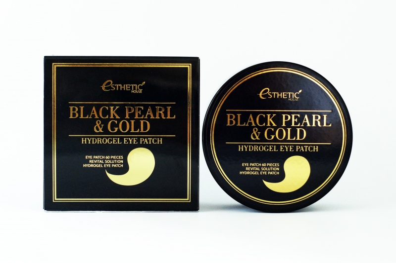 Патчи Esthetic House Black Pearl & Gold Hydrogel Eye Patch, 100