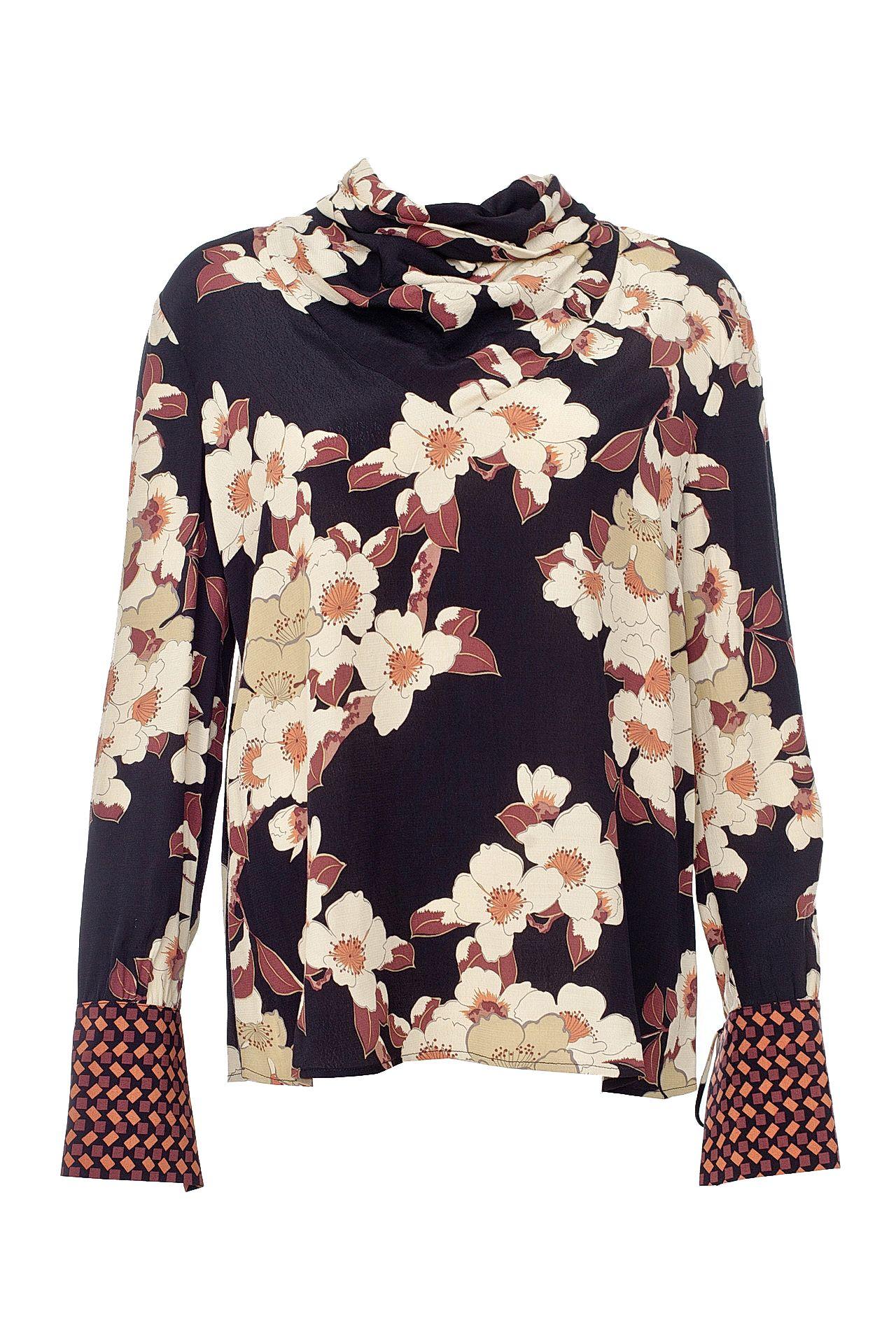 Блузка TWIN-SET солнышко и цвета на завязках