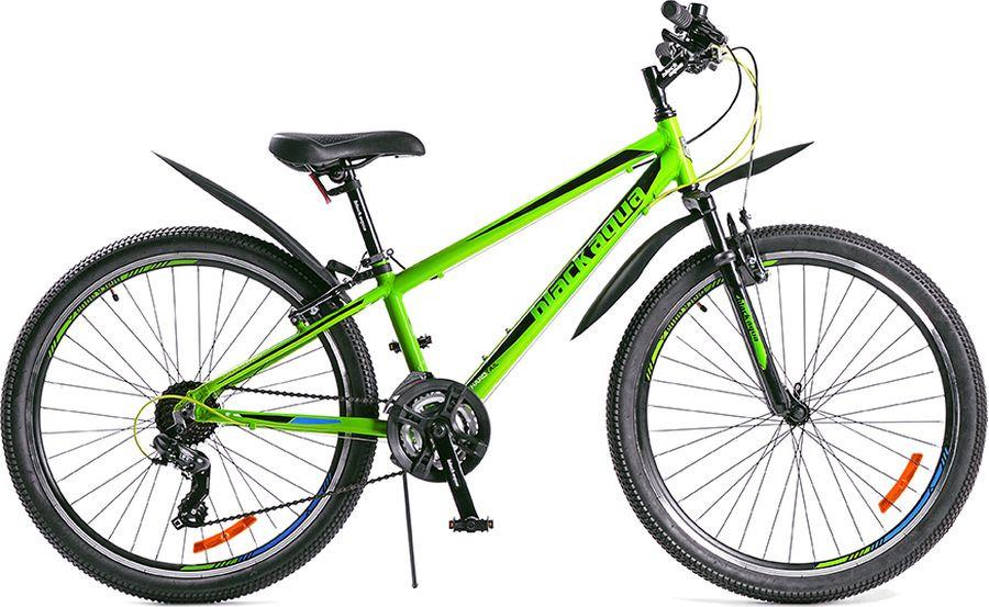 Велосипед Black Aqua Cross 2682 V, черный, салатовый, колесо 26, рама 15