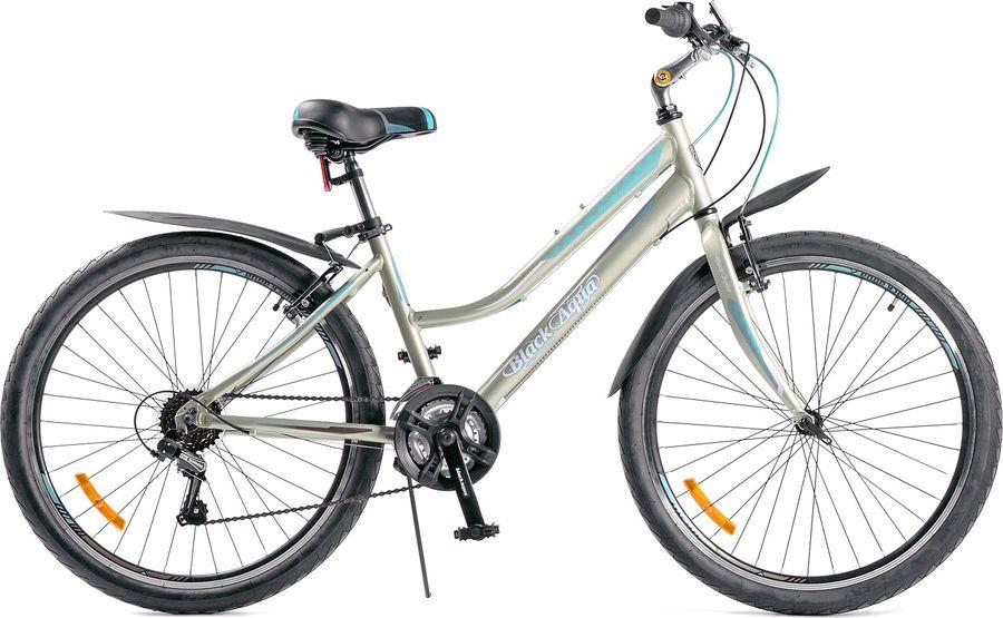Велосипед Black Aqua CITY 2671 V, бежевый, бирюзовый, колесо 26, рама 15