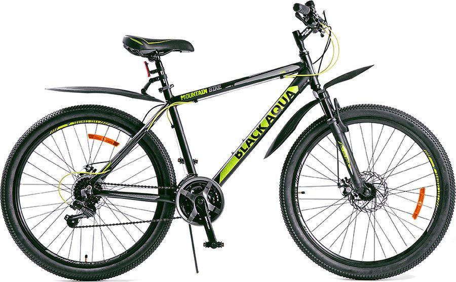 Велосипед Black Aqua Cross 2651D Matt, синий, зеленый, колесо 26, рама 18
