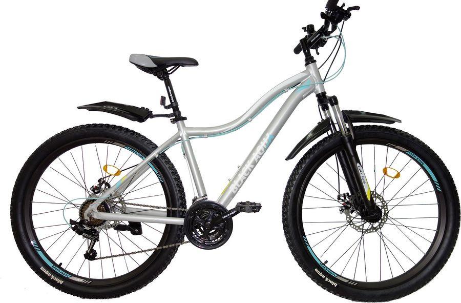 Велосипед Black Aqua Cross 2781 D+ Matt, черный, лимонный, колесо 27,5