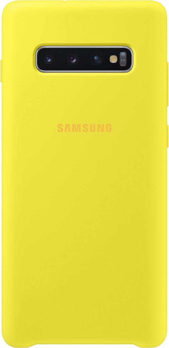 Чехол Samsung Silicone Cover для Galaxy S10+, желтый