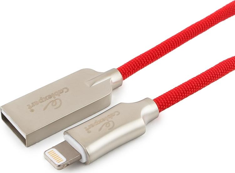 Кабель Cablexpert Platinum, USB для Apple MFI, AM/Lightning, 1 м, с оплеткой, красный сноукиды mfi телефон кабель для передачи данных зарядное устройство 1 5 м белый
