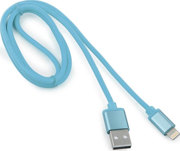 Кабель Cablexpert Silver, для Apple, AM/Lightning, 1 м, синий