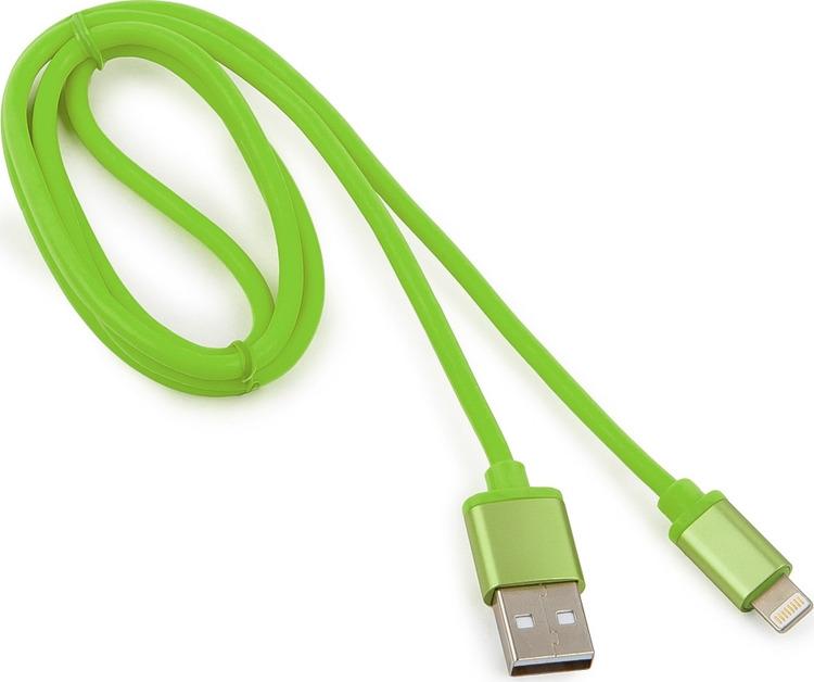 Кабель Cablexpert Silver, для Apple, AM/Lightning, 1 м, зеленый