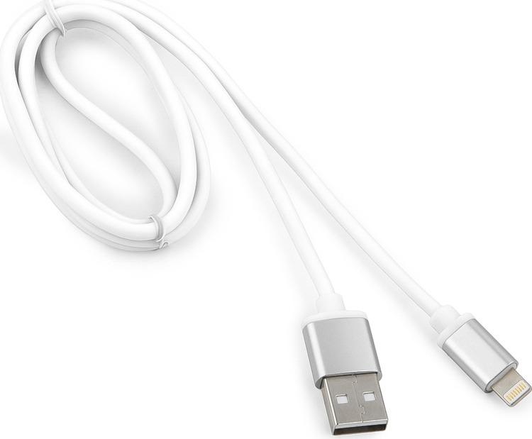 Кабель Cablexpert Silver, для Apple, AM/Lightning, 1 м, белый