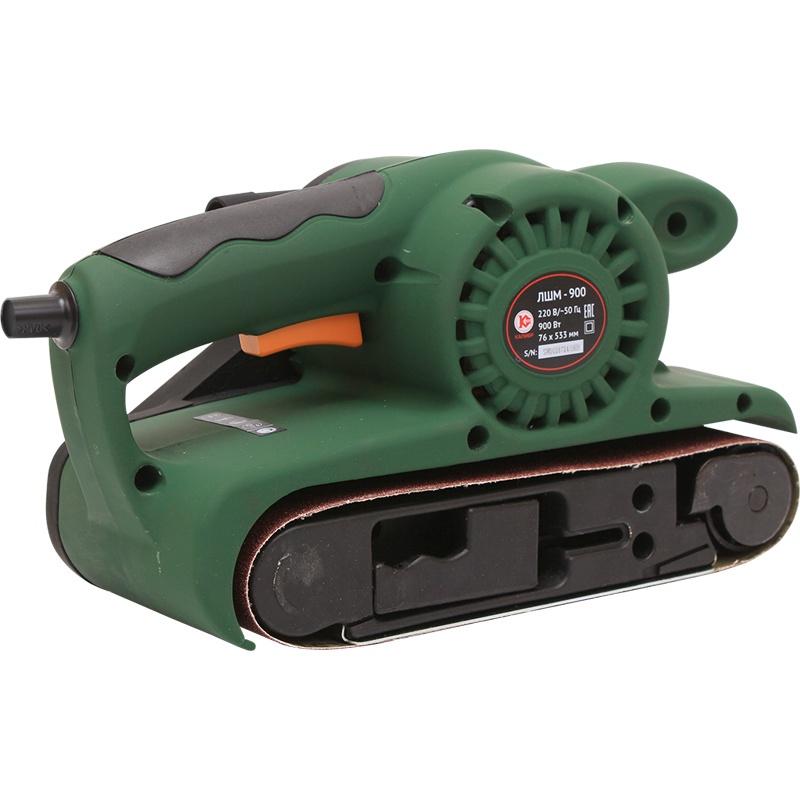 Шлифмашина ленточная Калибр ЛШМ - 900, зеленый машина шлифовальная ленточная вихрь лшм 75 900