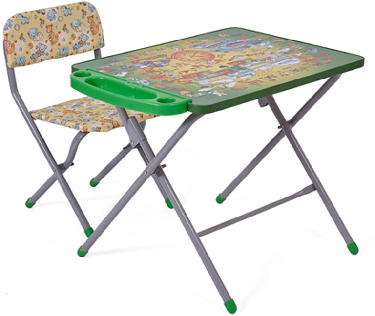 Фея Набор детской мебели Досуг Алфавит цвет зеленый желтый фея набор детской мебели досуг динозаврики