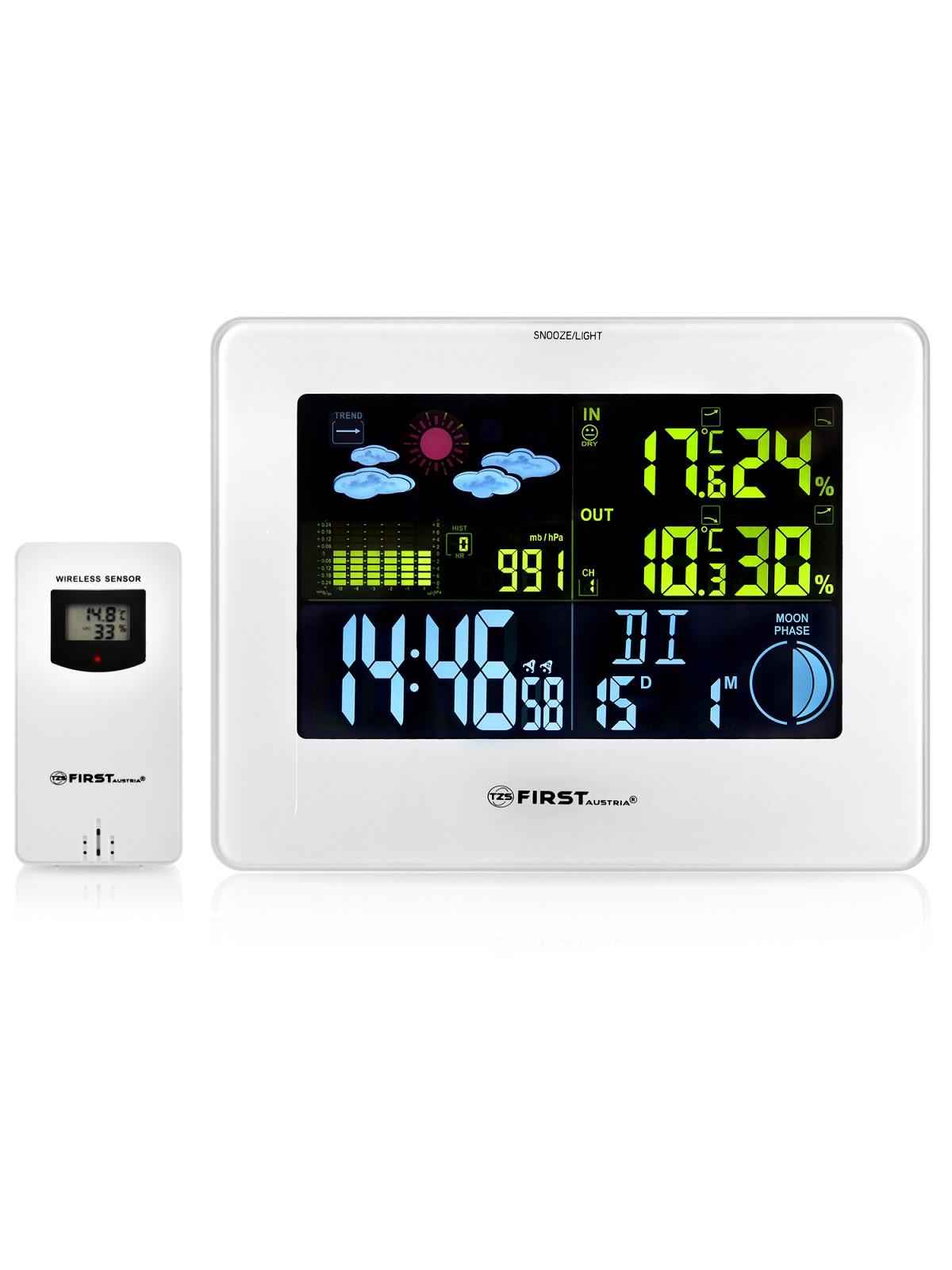 Метеостанция First, датчик 433,92 МГц, цвет: белый