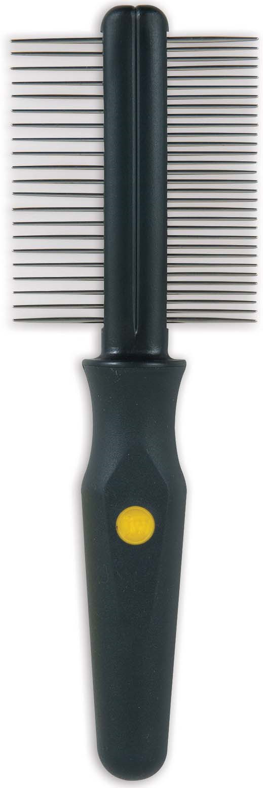 Расческа для собак J.W. Grip Soft Dog Double Sided Comb, JW65030, двухсторонняя