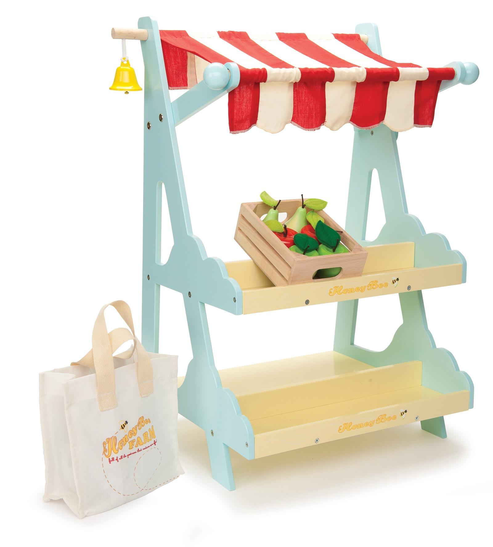 Сюжетно-ролевые игрушки Le Toy Van Магазин с ящиком и сумкой голубой цена