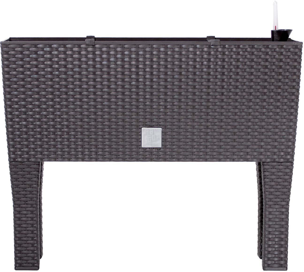 Кашпо с системой автополива Prosperplast Rato Case High, DRTC600H-440U, венге, 60 х 25 х 46 см кашпо prosperplast rato square drts325 440u wenge