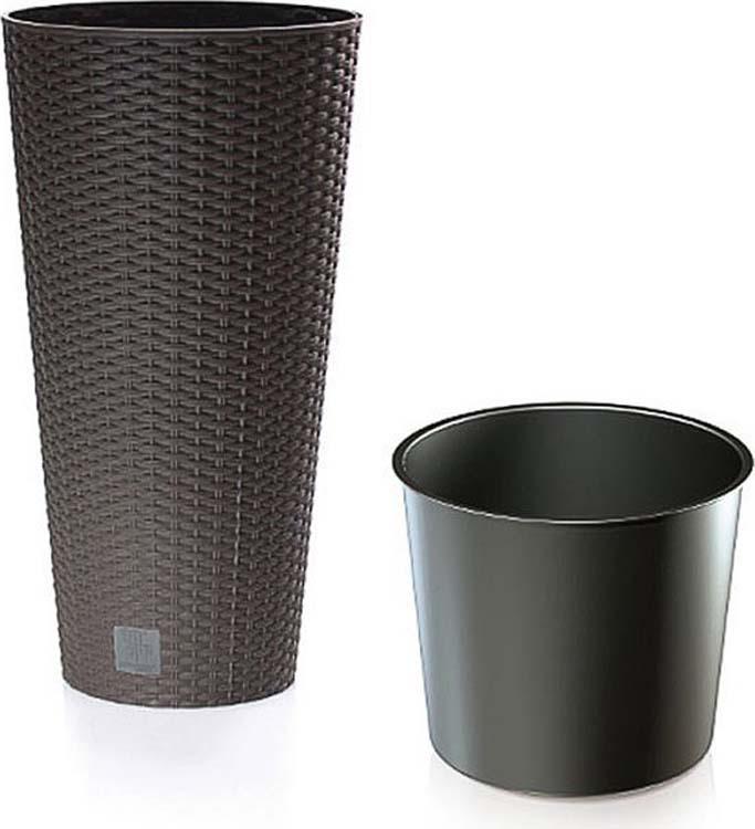 Кашпо Prosperplast Rato Tubus, DRTUS400-440U, венге, 40 х 40 х 76,3 см кашпо prosperplast rato square drts325 440u wenge