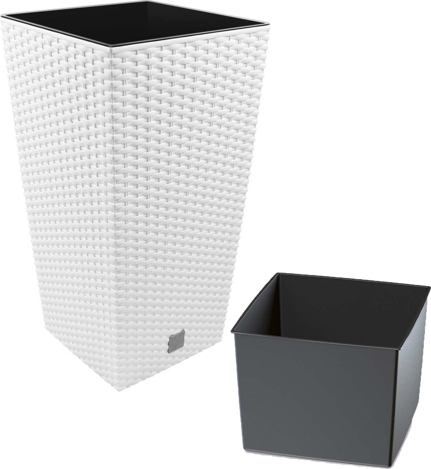 Кашпо Prosperplast Rato Square, DRTS400-S449, белый, 40 х 40 х 75 см