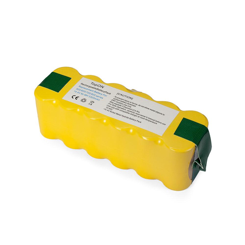 Аккумулятор для пылесоса TopON iRobot Roomba 500, 600, 700, 800, 900 Series. 14.4V 3300mAh Ni-MH. PN: 80501, GD-ROOMBA-500, VAC-500NMH-33.