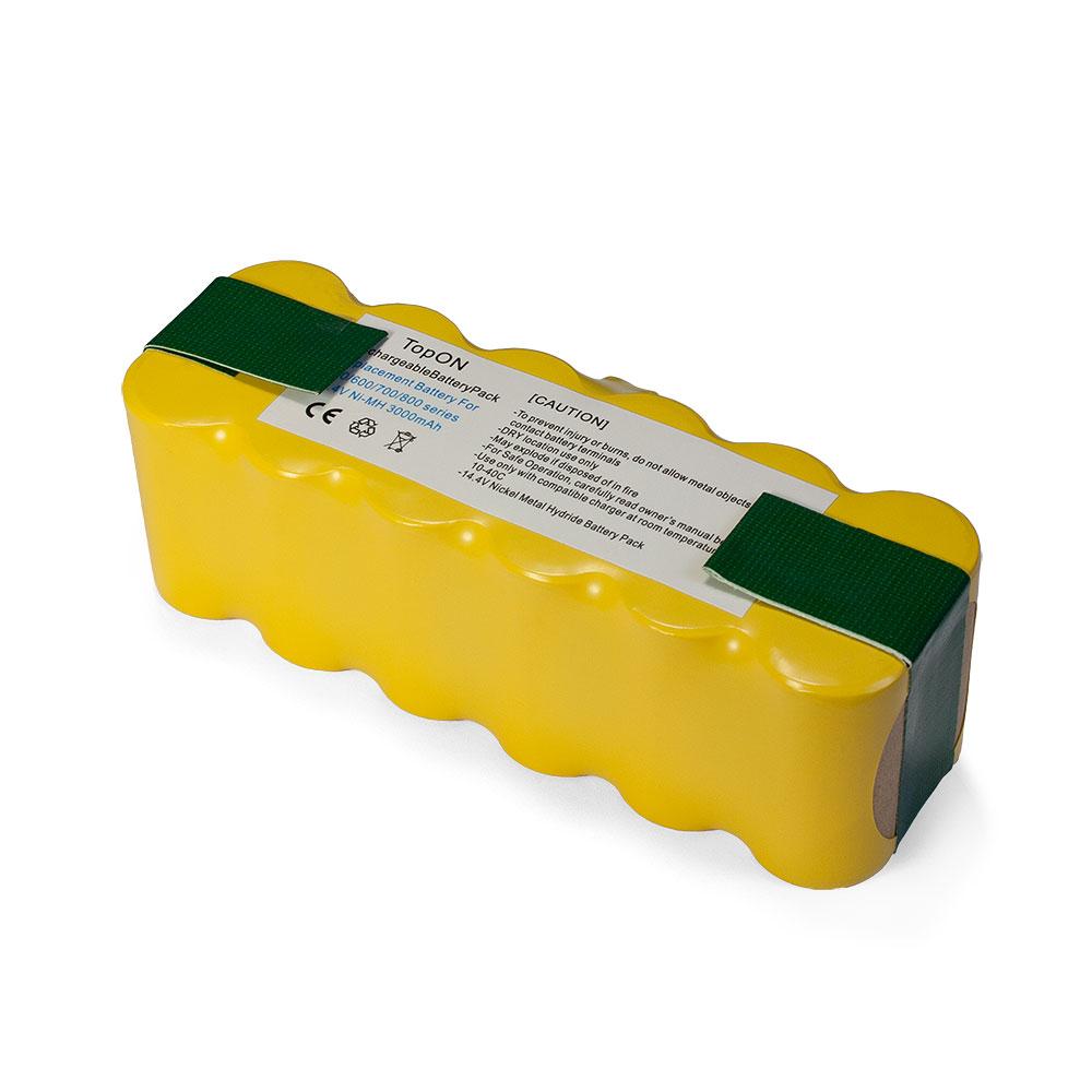 Аккумулятор для пылесоса TopON iRobot Roomba 500, 600, 700, 800, 900 Series. 14.4V 3000mAh Ni-MH. PN: 80501, GD-ROOMBA-500, VAC-500NMH-33.