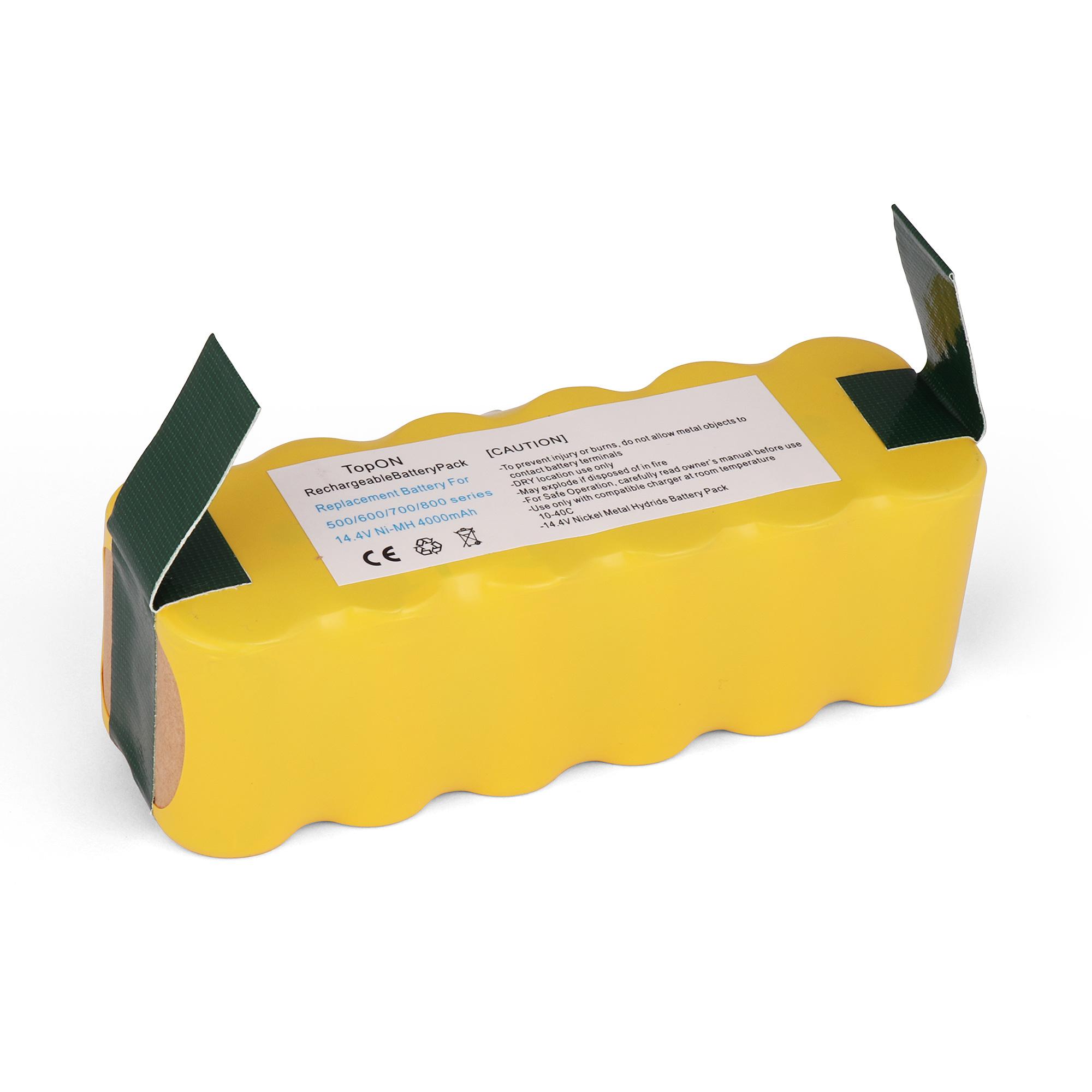 Аккумулятор для пылесоса TopON iRobot Roomba 500, 600, 700, 800, 900 Series. 14.4V 4000mAh Ni-MH. PN: 80501, GD-ROOMBA-500, VAC-500NMH-33.