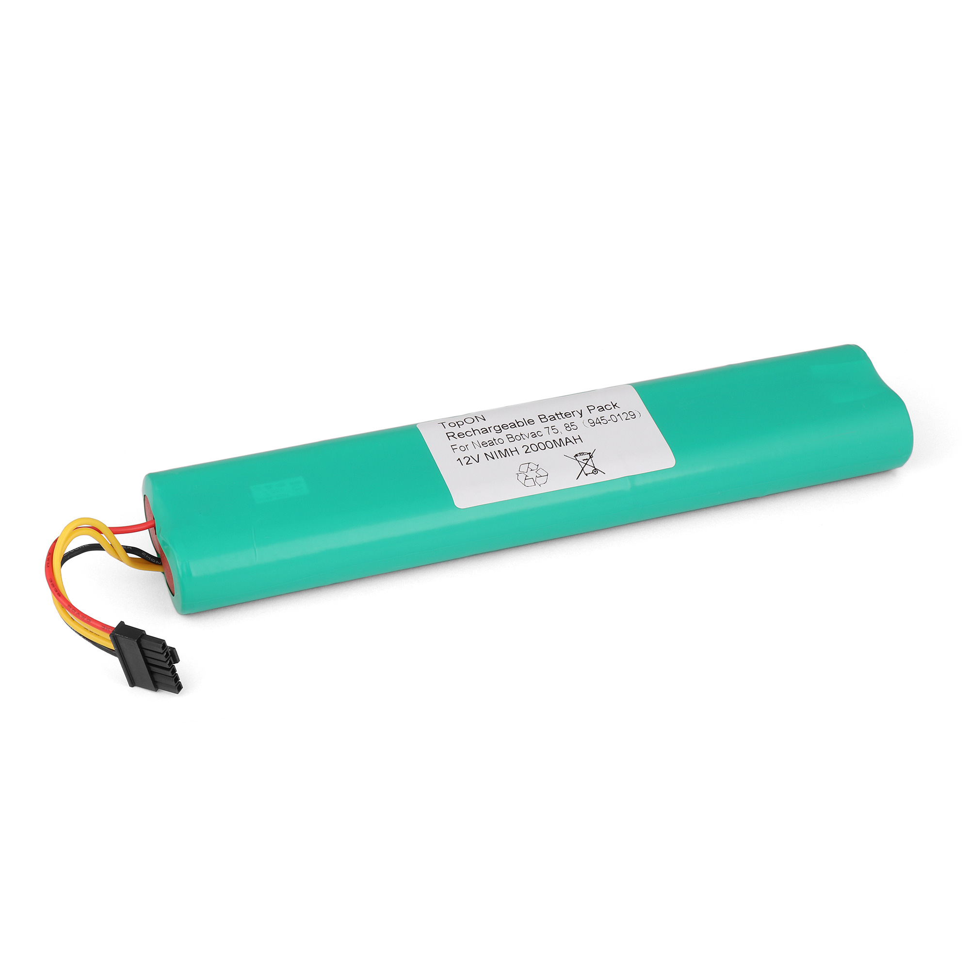 Аккумулятор для пылесоса TopON Neato Botvac 70e, 75, 80, 85. 12V 2000mAh Ni-MH. PN: 945-0129. потребительские товары oem neato 4 x 4 x neato botvac 70 75 80 85 silicone blades and brushes for neato botvac