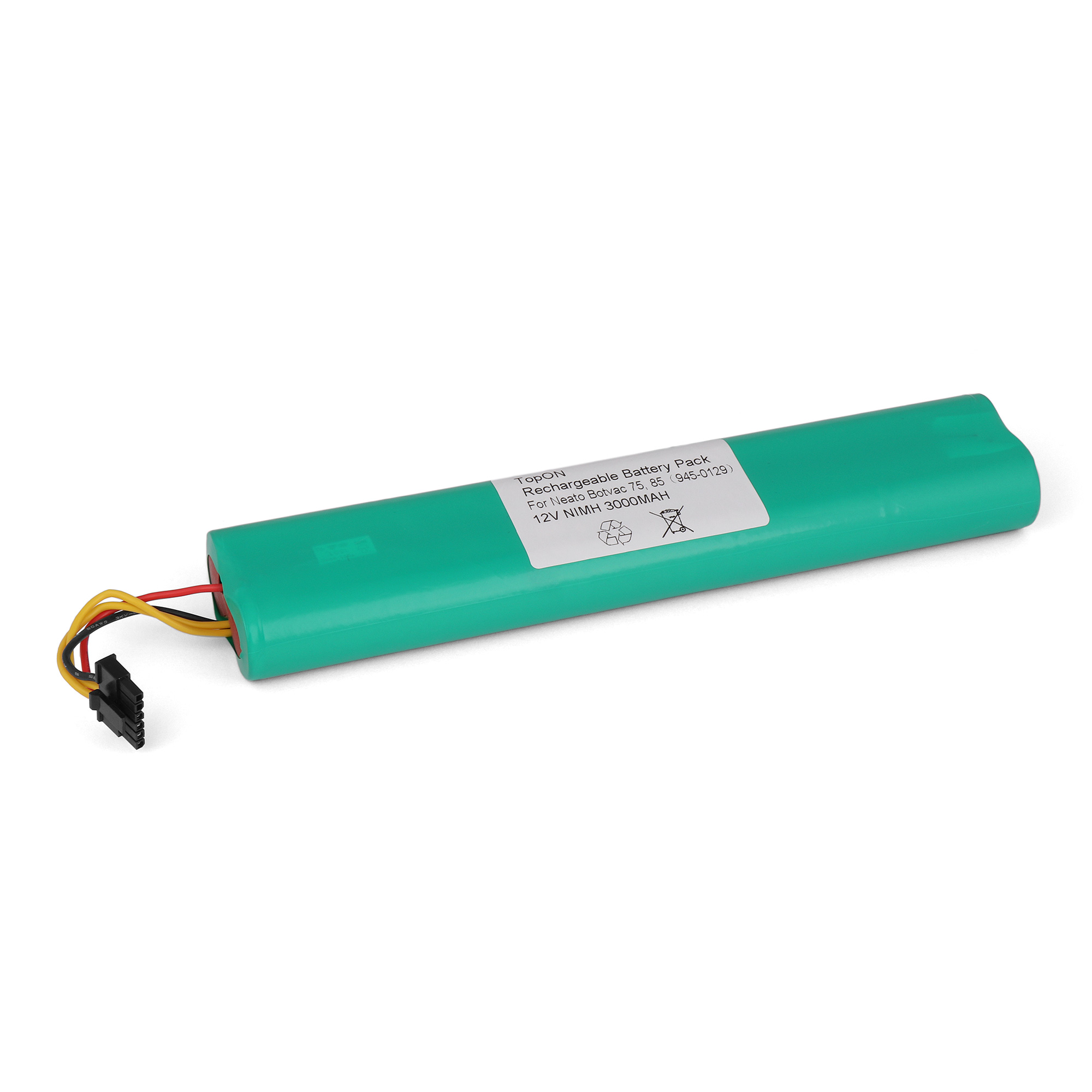 Аккумулятор для пылесоса TopON Neato Botvac 70e, 75, 80, 85. 12V 3000mAh Ni-MH. PN: 945-0129. потребительские товары oem neato 4 x 4 x neato botvac 70 75 80 85 silicone blades and brushes for neato botvac