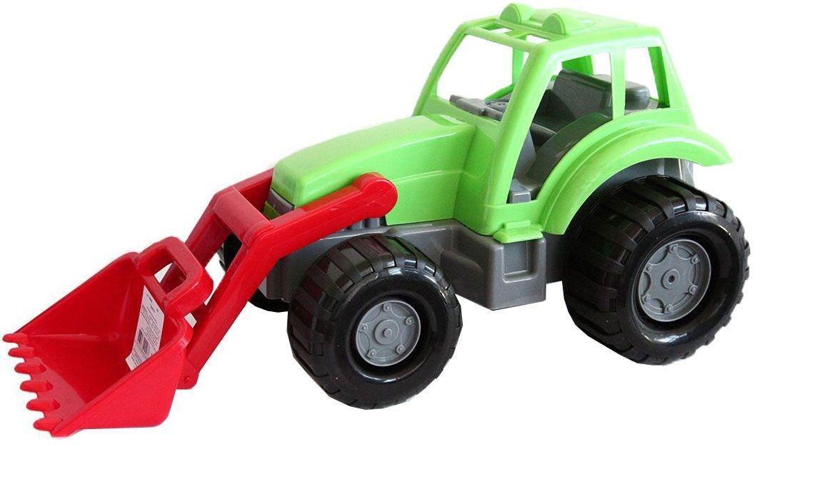 Спецтехника ORION TOYS Трактор 9861008655Трактор ORION TOYS станет любимой игрушкой ребенка, увлекающегося тяжелой техникой и сложными механизмами. У трактора широкие колёса и большой подвижный ковш, который можно использовать в песочнице с песком. В кабине предусмотрено место для фигурки водителя. Игрушка изготовлена из прочного пластика.