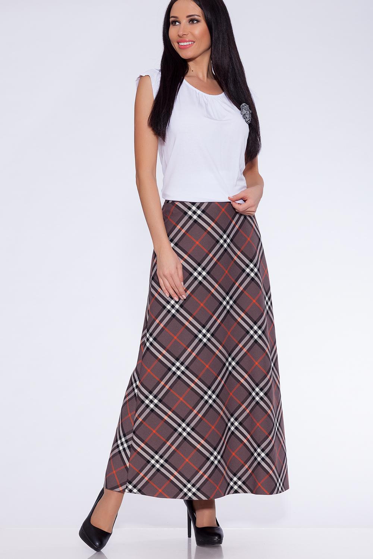 Юбка ТРиКа, бежевый, оранжевый 54 размер734-747/54Женская юбка, расклешенная от пояса к низу. Застежка расположена по левому боковому шву на потайную тесьму молнию. Великолепный женский вариант юбки в пол, широкая кокетка, подчеркнет фигуру на уровне бедер, а длинна изделия и прекрасная расцветка ткани не оставят равнодушными самых взыскательных модниц.