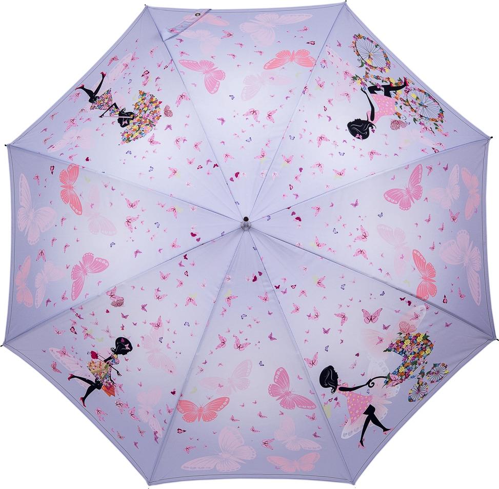Зонт-трость женский Stilla, полуавтомат, цвет: светло-розовый. 812auto зонт stilla 680auto 1 светло коричневый