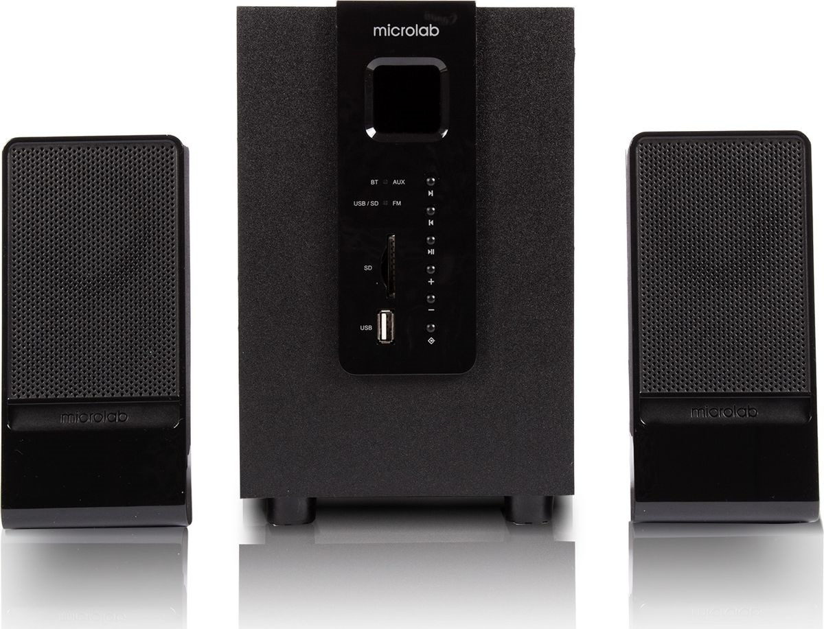 цена на Компьютерная акустическая система Microlab M-100BT, черный