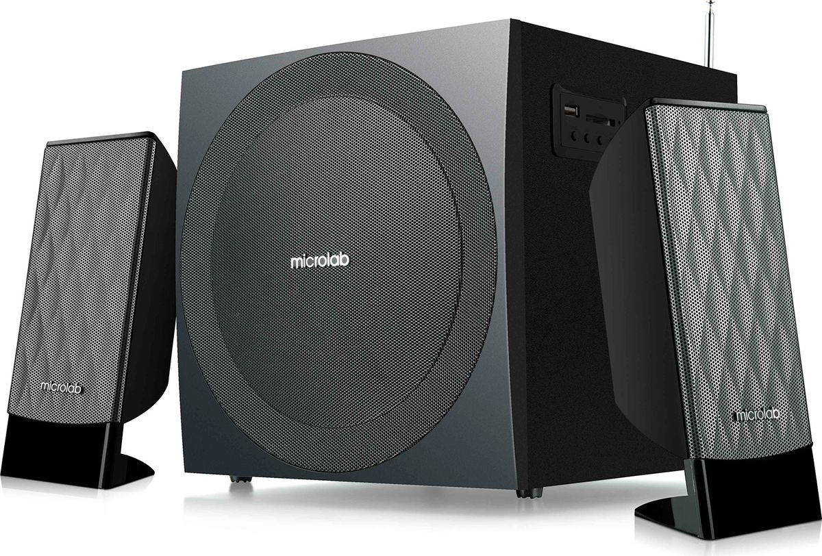 Компьютерная акустическая система Microlab M-300BT, черный колонки microlab b51 2х2 вт usb черный