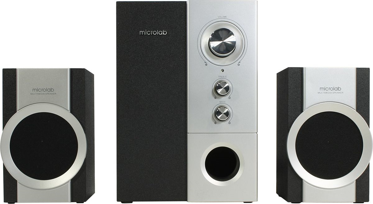 Компьютерная акустическая система Microlab M-590, серебристый, черный