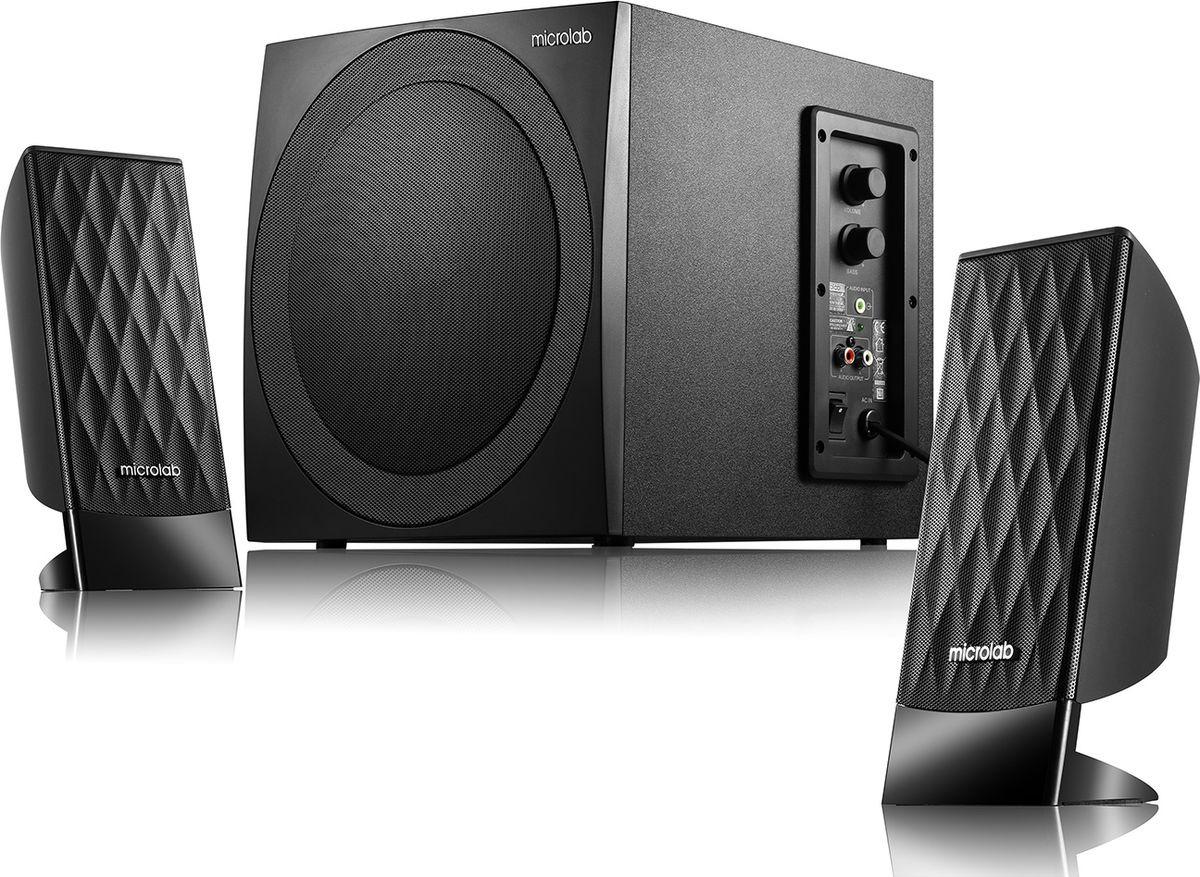Компьютерная акустическая система Microlab M-300, черный упоры капота kia r4500a2001 для kia ceed 2012 2015
